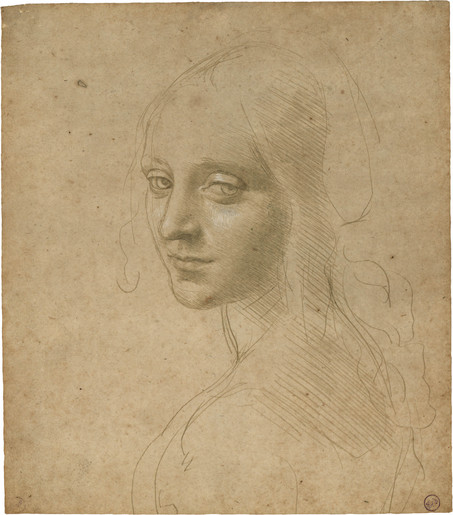 "Leonardo da Vinci's study for ""Madonna of the Rocks"""
