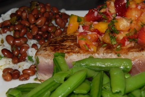 Blackened Tuna with Fruit Salsa