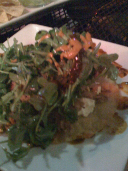 smoked duck tostada