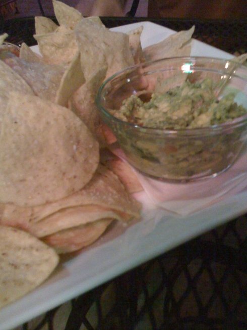 homemade chips and fresh guacamole