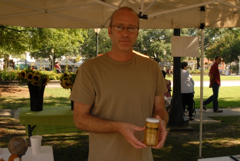 beekeeper, Doug West, of Honey Moon Bee Co. in Fairhope, AL