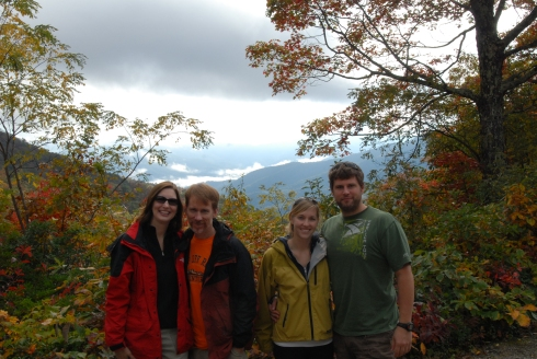 The gang at Brasstown Bald