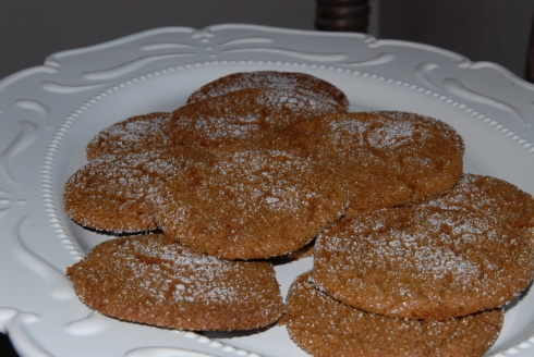Sugar-Topped Molasses Cookies